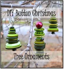 let it shine adorable tree ornaments made from buttons