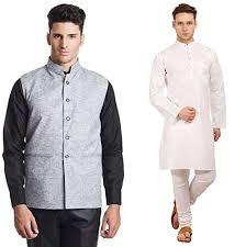 kurta colors men s pack of cotton white kurta pajama linen blend nehru jacket
