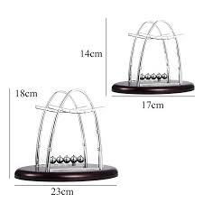 accessoire bureau design nouveau design newtons cradle acier balance balls physique