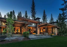 montana mountain modern architecture utilizes reclaimed rustic