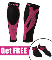 high fit pro calf compression sleeves enjoy support