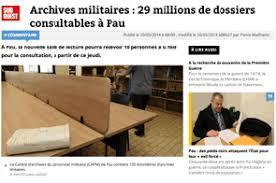 bureau central des archives administratives militaires ouverture d une salle de lecture aux archives militaires de pau