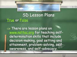 teaching self determination skills to students with disabilities