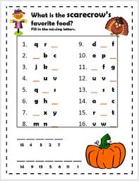 alphabet missing letter thanksgiving secret message riddles