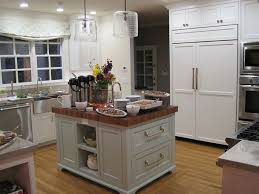 white kitchen island with butcher block top fraufleur com