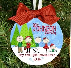 personalized family ornament custom made with characters