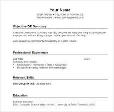 Resume Format For Job Pdf by Resume Sample Basic Resume Templates Download Resume Templates