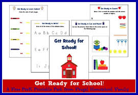 get ready for pre k printable worksheets