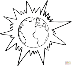 planet sunshine coloring page download and printable space