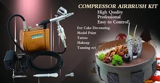 Airbrush System For Cake Decorating Ophir Airbrush Kit With Mini Air Compressor Dual Action Airbrush