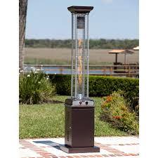 fire sense stainless steel patio heater with adjustable table fire sense square flame patio heater walmart com