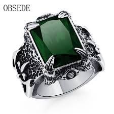 green fashion rings images Obsede fashion classic claw punk rings for men gothic dark green jpg