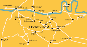 Dordogne France Map by Contact U0026 Route Camping Le Couderc Naturisten Camping In De