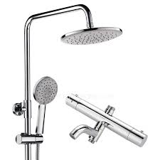 Exposed Outdoor Shower Fixtures - electroplated brass thermostatic exposed outdoor shower faucets