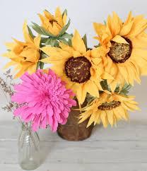 Sunflower Centerpiece Paper Sunflower Bouquet Paper Sunflowers Wedding Decor