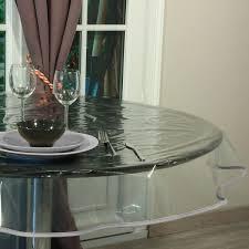 nappe ronde tissu enduit nappe ronde en cristal prêt à poser transparente 180cm
