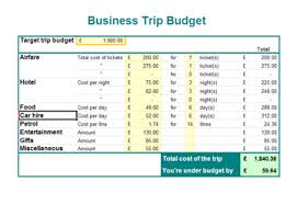 business trip budget business templates executive pa and