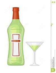martini illustration martini bottle vector illustration stock vector image 73178334