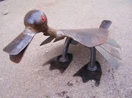 quacker salvaged iron garden ornament metal sculpture