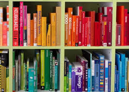 Colorful Bookcases Arranging Your Books By Color Is Not A Moral Failure