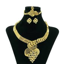 african gold necklace images Liffly new fashion african jewelry dubai women gold jewelry floral jpg