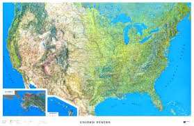us relief map raised relief map of the united states ncr color relief
