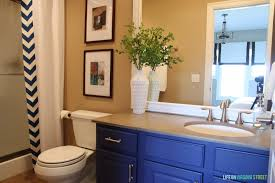 Best Paint For Bathroom Cabinets by Bathroom Vanity Makeover Using Country Chic Paint Life On