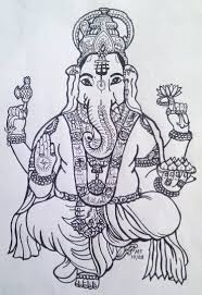 ganesha outline tattoo design photos pictures and sketches