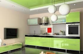 plafond cuisine cuisine originale mettez de la couleur du sol au plafond