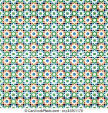 vectors illustration of arabic islamic ornament design geometric