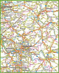 Map Of Germany Cities by Hesse Road Map