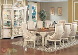How To Set A Formal Dining Room Table Halyn Antique White Formal Dining Room Set With Extension Leaf