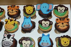 baby animal cupcakes baby shower cup cake pinterest baby cake