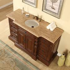 amazon com silkroad exclusive bathroom vanity travertine top