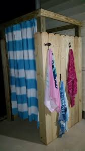 outdoor pool changing room made out of pallets crafts