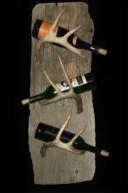 rustic 3 bottle wine rack u2013 wall mounted on driftwood u2013 rocky