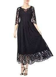 kimilily women u0027s vintage 3 4 sleeve formal elegant lace long