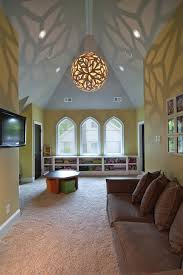 Lighting For Sloped Ceilings by Sloped Ceiling Lights Kids Eclectic With Clipped Ceiling Knotty