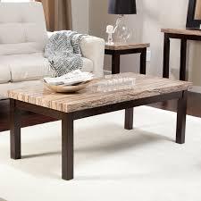 carmine faux marble coffee table hayneedle
