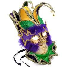 mardi gras jester costume deluxe mardi gras jester mask 36006 craftoutlet
