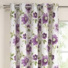 Purple Floral Curtains Design Purple Floral Curtains Renoir Printed Lined Eyelet
