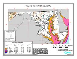 Map Of Maryland File Maryland Wind Resource Map 50m 800 Jpg Wikimedia Commons