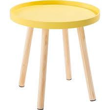 alinea bout de canapé bout de canapé blanc avec pieds en pin trap meubles salon