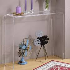 clear plastic console table hill trading pure décor clear console table