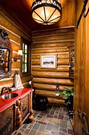 best rustic cabin bathroom ideas on pinterest log home part 97