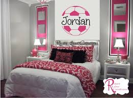 Wall Decals For Girls Bedroom Soccer Ball Soccer Wall Decal B4 For Girls Room Teen