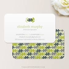 childcare business cards puzzle pieces business card calling card card