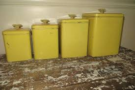 vintage style kitchen canisters vintage kitchen canisters vintage canisters yellow canister set