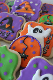 halloween ghost witch and spider cookies