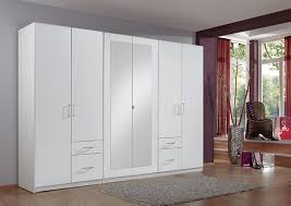 fly chambre a coucher armoire 6 portes 4 tiroirs fly blanc